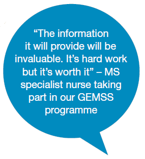 quote from Geraldine Mynors on the GEMSS programme